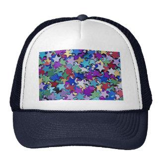 Confetti, star shapes mesh hat