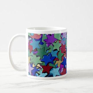Confetti, star shapes mugs