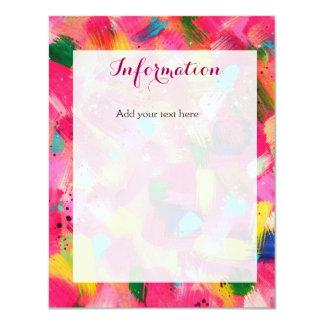 Confetti Storm Wedding Information Card 11 Cm X 14 Cm Invitation Card
