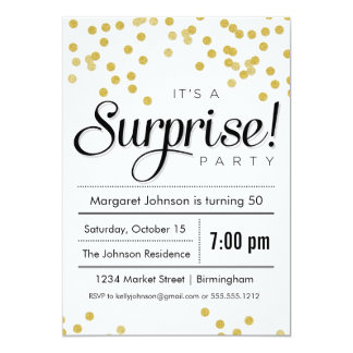 Confetti Surprise Party Invitation