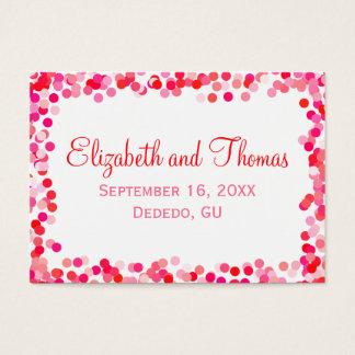 Confetti Wedding Place Cards