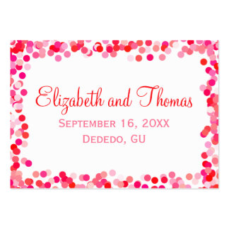 Confetti Wedding Place Cards Pack Of Chubby Business Cards