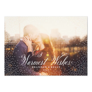 Confetti WISHES White Christmas Holiday Card