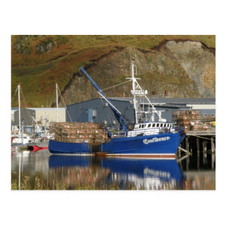 Confidence at the Galaxy Dock, Dutch Harbor, AK Postcard