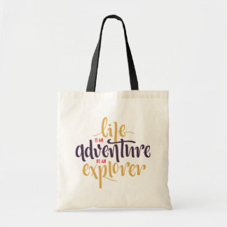 Confidence, Attitude Life Motivational Quote Tote Bag