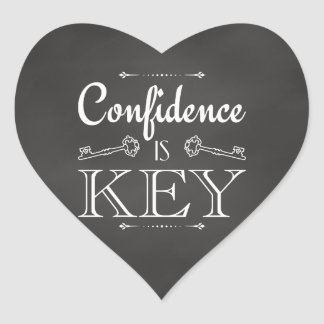 Confidence Is Key Heart Sticker
