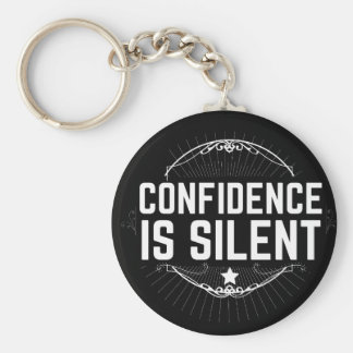 confidence is silent key ring