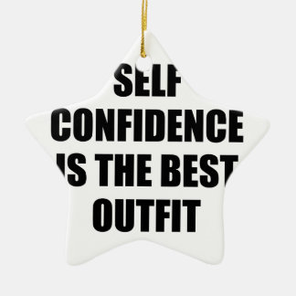Confidence Outfit Ceramic Ornament