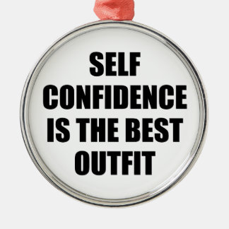 Confidence Outfit Metal Ornament