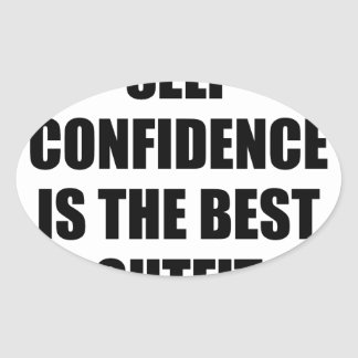 Confidence Outfit Oval Sticker