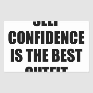 Confidence Outfit Rectangular Sticker