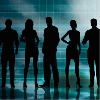 Confident Business Team of Professionals in Suits Photo Sculpture Decoration