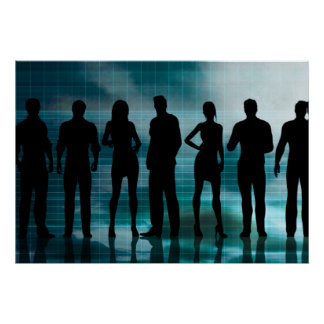 Confident Business Team of Professionals in Suits Poster