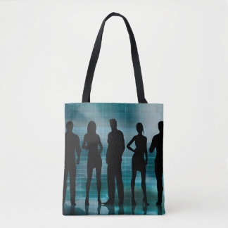 Confident Business Team of Professionals in Suits Tote Bag