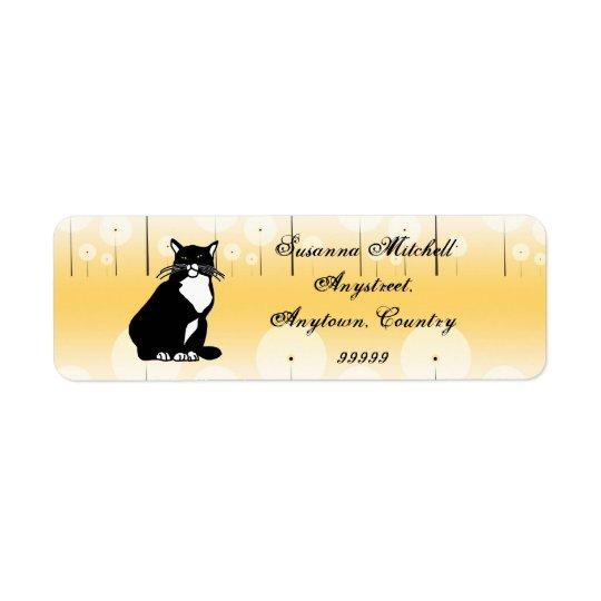 Confident Cat ID250 Return Address Label