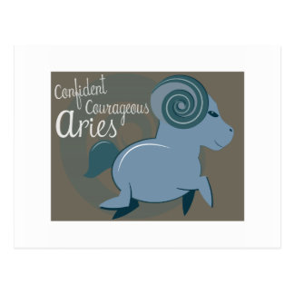 Confident Courageous Post Card