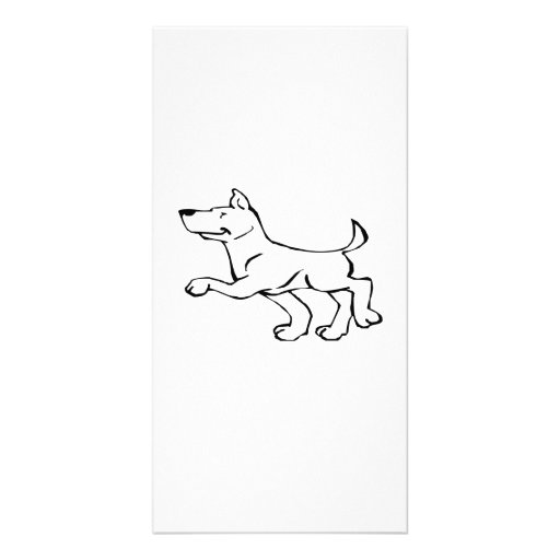 Confident Dog Photo Card Template