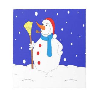 Confident-Snow-Man-Scene Notepad
