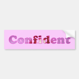 Confident spelled with pink flowers bumper sticker