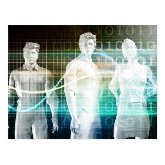 Confident Successful Business Team Standing Postcard
