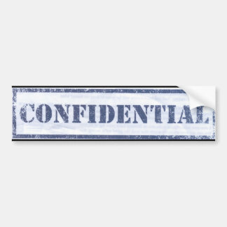 CONFIDENTIAL BUMPER STICKER