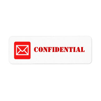 Confidential Top Secret Warning Label Return Address Label