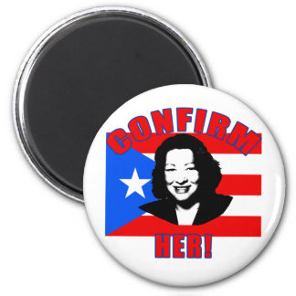 Confirm Her with Puerto Rico Flag Products 6 Cm Round Magnet