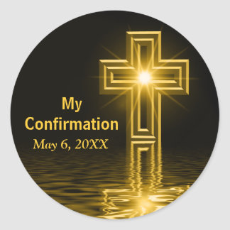 Confirmation Artistic Cross Spiritual Stickers