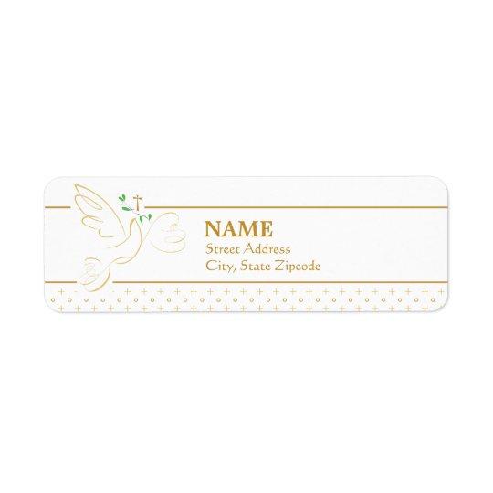 Confirmation | Baptism Return Address Label