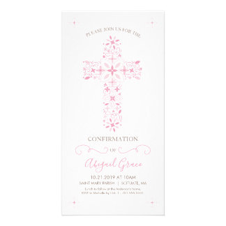 Confirmation Card - Girl's Confirmation Invitation