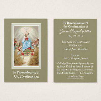 Confirmation Holy Ghost | Spirit Remembrance Cards