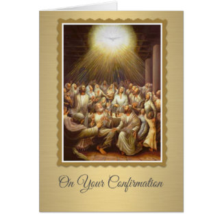 Confirmation Holy Spirit upon the Apostles Card