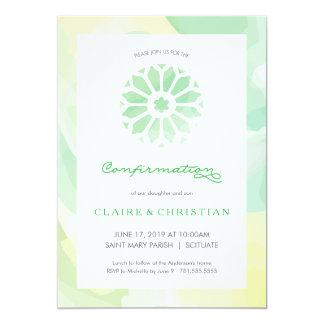Confirmation Invitation, Girls or Boys (Twins) Card