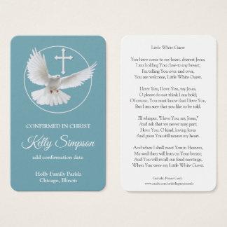 Confirmation Prayer Card | White Dove
