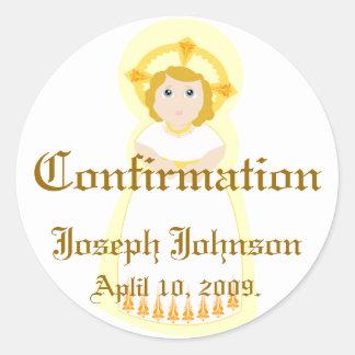 Confirmation Sticker-Customize Round Sticker