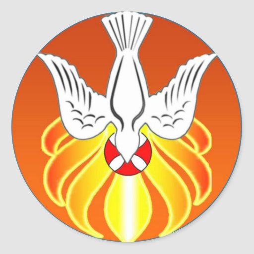 Confirmation Sticker- Holy Spirit and seven flames