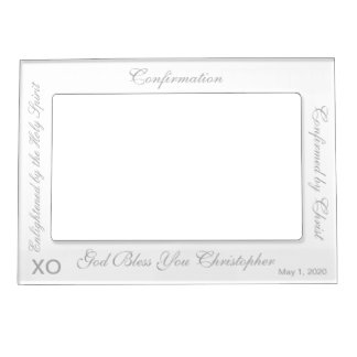 Confirmation White Photo Frame