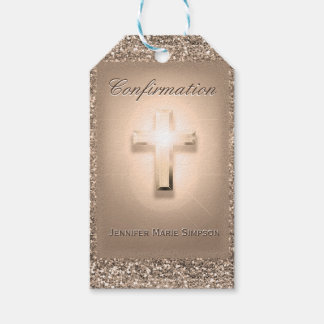 Confirmation with Glowing Cross Gift Tags