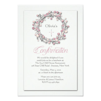 Confirmation Wreath Religious Invitation