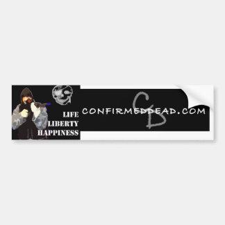 Confirmed dead copy, cd-logo bumper sticker