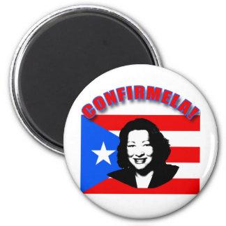 CONFIRMELA Con Bandera de Puerto Rico 6 Cm Round Magnet