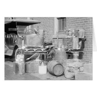 Confiscated Moonshine Still, 1922 Card