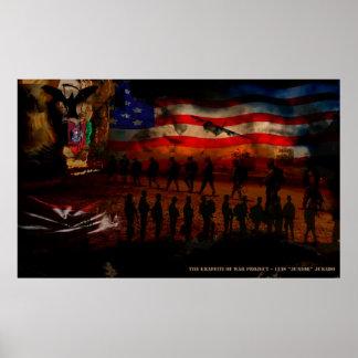 Conflict Art - Designed by Luis Jurado, Jr Poster