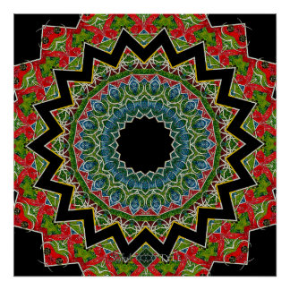 Conflicted Mandala Poster