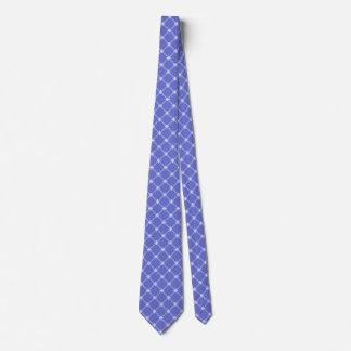 Conflower Blue Diagonal Pattern Tie