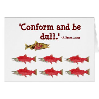 Conform & be dull Card