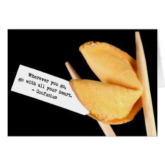 Confucius fortune cookie card