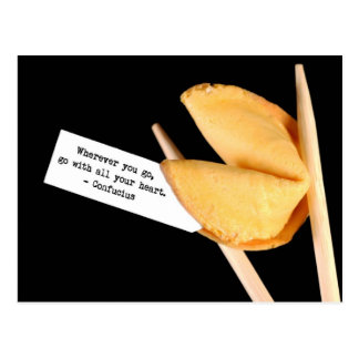 Confucius fortune cookie postcard