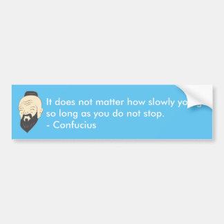 Confucius inspirational car sticker bumper sticker