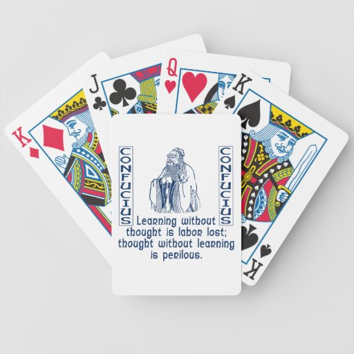Confucius Playing Cards